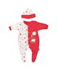 آدمک ست لباس پسرانه مدل 132001R - سفید قرمز - نخ