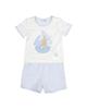 mayoral ست تی شرت و شلوارک نوزادی پسرانه مدل MA 160888 - سفید آبی روشن