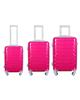 - مجموعه سه عددی چمدان مدل 20020 - صورتی - پلی کربنات