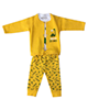- ست 3 تکه لباس نوزادی اچ اند ای کد 805 - زرد سفید - طرح دایناسور