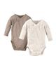 لباس نوزادی - بادی نوزادی لوپیلو کد TD01 مجموعه 2 عددی - کرم روشن - نسکافه ای