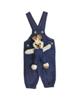 - سرهمی نوزادی مدل LIN1003A - سرمه ای روشن - خالخالی طرح خرگوش
