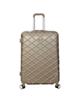 - چمدان پی کی مدل 001 سایز بزرگ - رنگ بژ - طرح لوزی