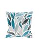 رنگار شاپ کاور کوسن مدل PWKH005 - آبی - طرح برگ