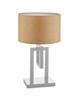 چشمه نور آباژور رومیزی مدل MT7027-WT- سفید- قهوه ای- کرم- نسکافه ای