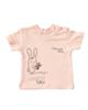 polonyx تی شرت آستین کوتاه نوزادی دخترانه طرح اسموتی کد 017 - پوست پیازی