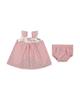 Fiorella ست پیراهن و شورت نوزادی دخترانه کد 2077 - صورتی - طرح دار
