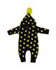 لباس نوزادی - سرهمی نوزادی طرح ستاره کد a59 - مشکی زرد